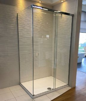 CLEARANCE - Majestic Harmony 1200 x 900mm Corner Shower Sliding Door Enclosure - Chrome